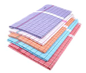 Sathiyas Sunrise Cotton Bath Towel (Lavender, White, Orange, Blue, Red, 33x66 Inches) - Combo of 5 Pieces