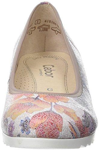 Gabor Damen Comfort Geschlossene Ballerinas Mehrfarbig (multicolor  Jute  40)