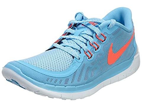 Nike Laufschuhe Free 5.0 (GS) Unisex lakeside-bright crimson-blue lagoon (725114-400), 37,5, blau