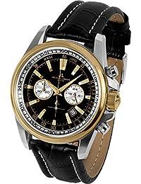 Jacques Lemans 1-1117CN Sports Analogue Black Dial Watch For Men, Boys