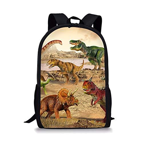 POLERODinosaur Dino Fashion Unisex Nette Segeltuch-Rucksack-Schule-Laptop-Schulter-Rucksack-Beutel Bookbag Reisen Camping Wandern Rucksack (T-rex)