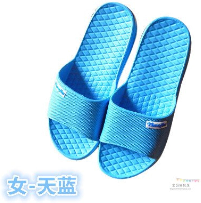 CWJDTXD Zapatillas de verano Inicio y hombres pareja zapatillas interiores baño de verano baño zapatillas de espuma...