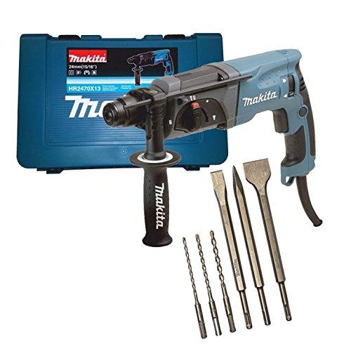 Preisvergleich Produktbild Makita HR2470 Bohrhammer für SDS-PLUS 24 mm inkl. 6tlg. Bohrer-/Meissel-Set