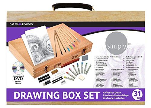 daler-rowney-649100100-kit-de-loisirs-creatifs-coffret-bois-pour-le-dessin-simply