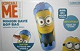 """Minion Dave, aufblasbarer Box-Sack, wackliger Minion, 80x 40cm, Spielzeug """"Ich - einfach unverbesserlich""""."""