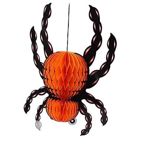 Shiningup Halloween Dekorationen 3D Fold Up Laternen Hanging-Spider Anhänger Halloween Ostern Laterne Garten Home Yard Party Props Geschenk für Kinder