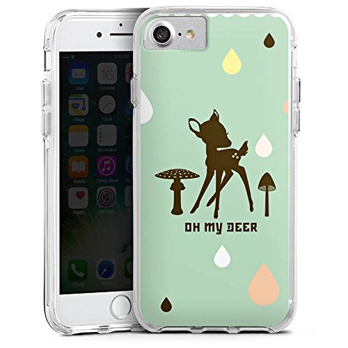Apple iPhone 6 Bumper Hülle Bumper Case Glitzer Hülle Oh My Deer Bambi Deer Bumper Case transparent