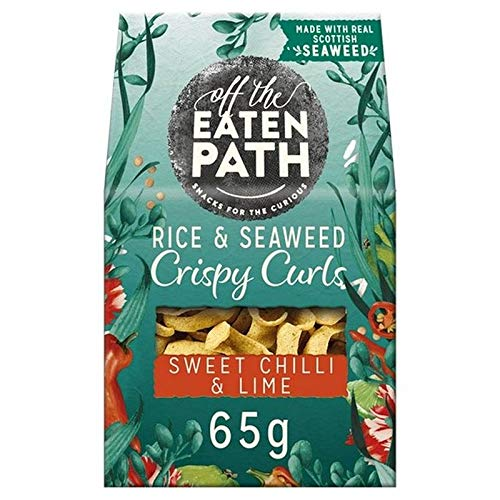 Off The Eaten Path Rice & Seaweed Crispy Curls Sweet Chilli & Lime Snacks 65g