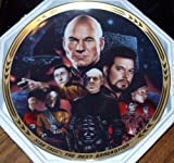 Star Trek :The Next Generation Limited Edition Plate~Best Of Both Worlds