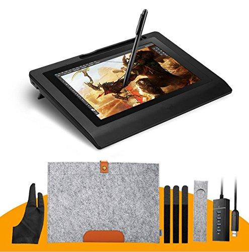 Sleeve-liner (Gowe 10.1IPS Graphic Monitor Kit für Design + batterielosen Stift + Wolle Liner Tasche Finger-Handschuh + Stylus + Sleeve)