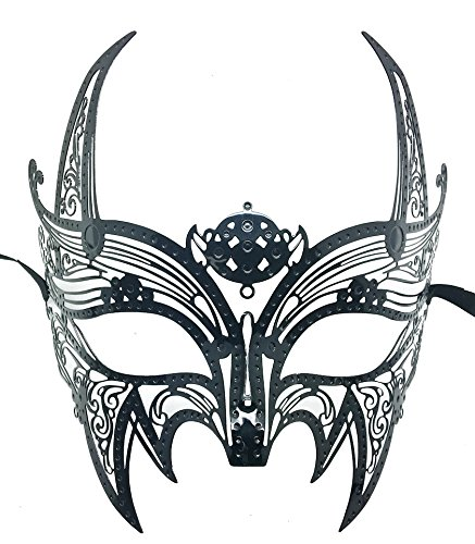 Mask Laser Cut Venetian Halloween Masquerade Mask Costume Extravagant Inspire Design - Black by KBMasks (Halloween-wolverine)