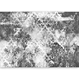 murando - Fototapete Ornament GRAU 500x280 cm - Vlies Tapete -Moderne Wanddeko - Design Tapete - Ornament Blätter f-A-0465-a-d