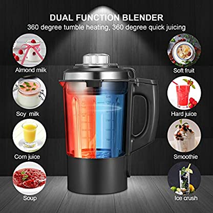 Decen-Standmixer-8-Vorprogramme-Hochleistungsmixer-1200W-Leistung-des-Rhrens-und-800W-Heizleistung-28000-Umin-175L-Glasbehlter-8-Edelstahlklingen-BPA-Frei