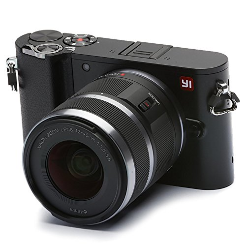"Foto YI M1 Fotocamera Digitale Mirrorless 4K, MFT Micro Quattro Terzi, Schermo Touchscreen 3"", 12-40mm F3.5-5.6, Foto 20 MP, Video 4K/30fps, Obiettivo Intercambiabile, Bluetooth, Wifi - Nero Tempesta"
