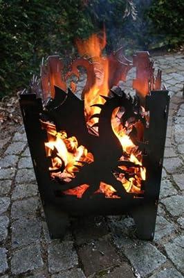 Feuersäule / Feuerkorb DRACHE Gr. XXL aus Stahl - von SvenskaV von SvenskaV Offenburg bei Du und dein Garten
