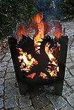 Feuersäule / Feuerkorb DRACHE Gr. L aus Stahl - von SvenskaV