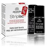 alessandro Duo Set Striplac Twin Coat & Peel-Off Aktivator - Vorteilsangebot, 2 x 8 ml