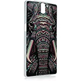 OnePlus One Funda - Lanveni Chic Elegante Carcasa rígida ultrafina para One Plus One Transparente Hard Case - Patrón Elefante Tribal Diseño 2