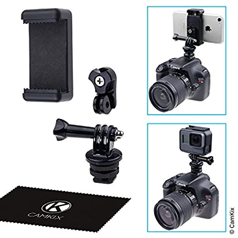 CamKix Hot Shoe Mount Adapter Kit - Attach your Phone