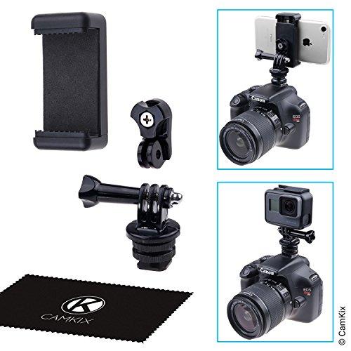 CamKix Blitzschuhadapter-Set - Befestigt Ihr Telefon oder Ihre GoPro Hero an der Blitzhalterung Ihrer Kamera - Zeichnen Sie Ihre Fotosession...