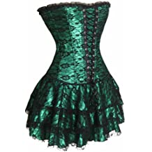 Vestido de corpiño, enagua mini falda