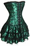 SZIVYSHI Corsage Korsett Kleid Mini Rock Petticoat