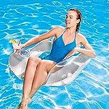 riverry spring float recliner - fauteuil gonflable de piscine semi immergé en tissu