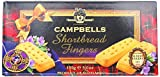 Campbells All Butter Shortbread Fingers - Traditional Shortbread in Carton, Product of Scotland