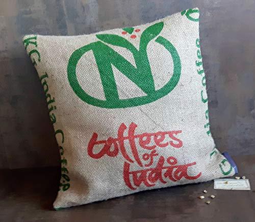 Kaffeesack Kissen Indien.Jute. 50x50 cm mit Füllung -