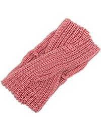 Ohrenwärmer Haarband Stretch Klassisches Stirnband für Frauen in Rot Neu!!