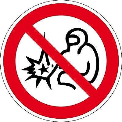 Verbotszeichen - Schweißen verboten - Kunststoff Selbstklebend