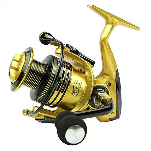 Angelrollen 5.5: 1 Full Metal Fisch Feeder Baitcasting Spinnrollen 13 + 1BB Gapless Metallkopf Spinnrad,3000