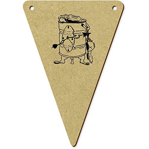 Azeeda 5 x 100mm 'Boîte de Conserve' Fanions Triangles en Bois (BN00009636)