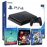 PlayStation 4 PS4 Slim Console 1 Tb - Bambini Pacco 3 Giochi - Lego Star Wars: Il Risveglio Della Forza + Ratchet & clank + No Man's Sky immagine