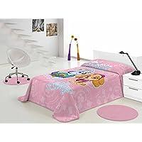 Manta Patrulla Canina 500gr 160x230 (cama de 90) (Rosa, 160x230 (cama