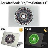 MacBook Pro/Pro Retina Aufkleber, AKPATI Haut Aufkleber Removable Leuchtender Aufkleber Skin Laptop Decal Sticker Abdeckung Abziehbild für MacBook Pro/Pro Retina 13 Zoll - Circle #4 Pattern
