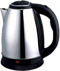 Quick Silver Stainless Steel 1.8 LTR Cordless Elecrtic Kettle Black & Silver