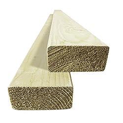 Builder Merchant CNKLJ0031 Treated Timber Batten, Wood, 2.4 m x 25 x 50 mm, Set of 5 Pieces