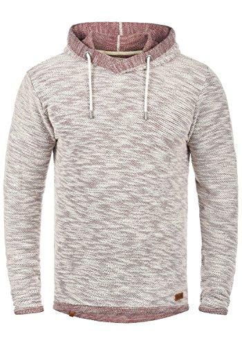 SOLID Flock Herren Kapuzenpullover Hoodie Sweatshirt aus 100% Baumwolle, Größe:M, Farbe:Wine Red (0985)