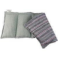 Körnerkissen Wärmekissen Wendekissen Dinkelkissen 100% Baumwolle Indianer Trend/grau Waffelpiqué 50x20cm