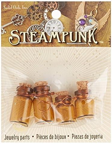 Steampunk en chêne massif Verre Accents Poison Bouteille, acrylique, multicolore,
