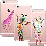 Yalixin 3 Coques iPhone 6 Plus/6S Plus Cover, TPU Silicone Transparente Case Cover...