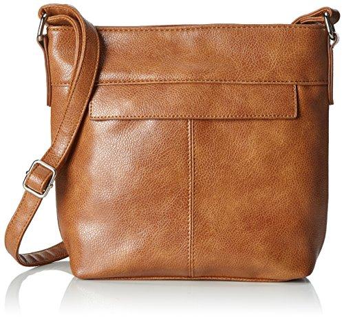 Handbags Damen Carla Umhängetasche Braun (Cognac)