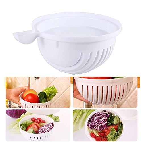 Praktisches Salat Cutter Schüssel Gemüse Schneide Kühlschrank-griff-abdeckung Silber