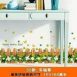 lsaiyy Stickers muraux Jardin Verre Fleurs Salon clôture Autocollant déco décoration Autocollant - 15X168CM