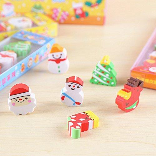 PRIMI 6Kids Cartoon Santa Claus Baum Stationery Gummi Radiergummi Weihnachten Geschenk (Claus Santa Gummi)