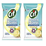 #1: Cif Power & shine Multi- Purpose Citrus Fresh Wipes 30's Pack Of 2