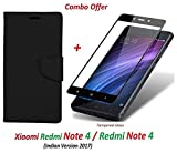 #10: Goelectro Xiaomi Redmi Note 4 / mi redmi note 4 / Redmi Note 4 (COMBO OFFER) Wallet Style Flip Cover Case for Redmi Note 4 ( Black ) + 2.5D curved 3D Edge to Edge Tempered Glass Screen Protector ( Black )