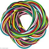 PW International-Scoubidous, bolsa de 250 hilos, 25 x 10 colores, sin ftalatos