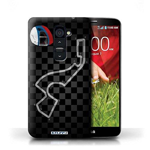 Kobalt® Imprimé Etui / Coque pour LG G2 / USA/Austin conception / Série 2014 F1 Piste Russie/Sochi